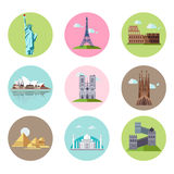 National Sights and Landmarks Vector Illustration Stock Photo