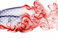 America, usa, national smoke flag. National smoke flag of America, usa, United States isolated on white background Royalty Free Stock Image
