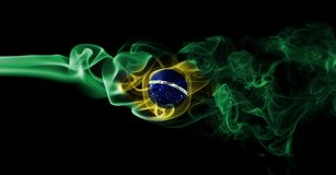 Brazil national smoke flag Stock Photos