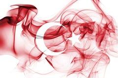 Turkey national smoke flag. National smoke flag of Turkey isolated on black background stock photos