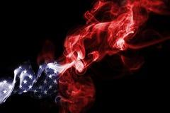 America, usa, national smoke flag. National smoke flag of United States of America isolated on black background Royalty Free Stock Image