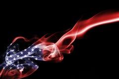 America, usa, national smoke flag. National smoke flag of United States of America isolated on black background Stock Image