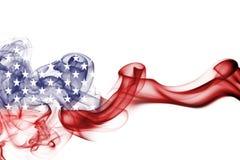 America, usa, national smoke flag. National smoke flag of United States of America isolated on white background Stock Images