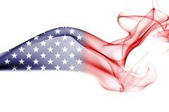 America, usa, national smoke flag. National smoke flag of United States of America isolated on white background Stock Photo