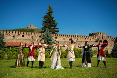 National Song and Dance Ensemble of Georgia Erisioni Stock Photography