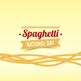 National Spaghetti Day. Vector illustration. Realistic twisted spaghetti Royalty Free Stock Image
