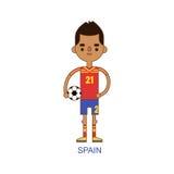 National spain soccer football player vector illustration Stock Photo