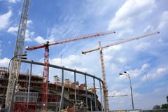 National stadium. Construction for euro 2012 in poland in warsaw Stock Photography