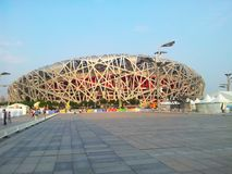 The National Stadium. Is located in the south of the central area of Beijing Olympic Park, the main stadium for the 2008 Beijing Olympic games. The total royalty free stock photos