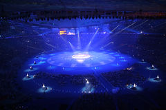 National Stadium. 2008/9/6/20:00 The Opening Ceremony of Beijing 2008 Paralympic Games.Beautiful light Royalty Free Stock Photo