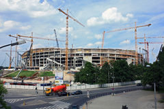 National stadium construction Stock Photo