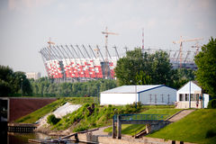 National Stadium construction site Royalty Free Stock Image