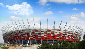 National stadium construction in Warsaw Stock Photography