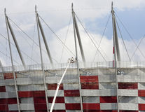 National stadium construction in Warsaw Royalty Free Stock Images