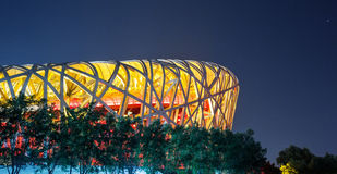 National Stadium Night Royalty Free Stock Images