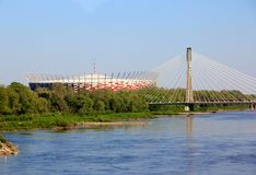 Warsaw, National Stadium of Poland Stock Photos