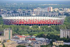 National Stadium of Poland, Warsaw Stock Photography