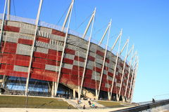 The National Stadium in Warsaw stock photo