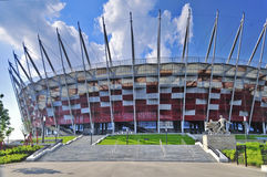National Stadium, Warsaw. Entrance. Royalty Free Stock Photos