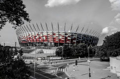 National Stadium Warsaw. This image depicts the national stadium of Poland located in the heart of Warsaw Royalty Free Stock Images