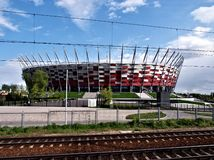 National Stadium in Warsaw. The modern, multifunctional Polish national stadium in Warsaw Royalty Free Stock Images