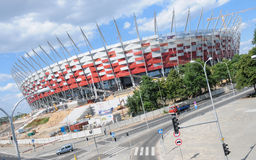 National Stadium in Warsaw, Poland Royalty Free Stock Images