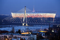 The National Stadium in Warsaw, Poland Royalty Free Stock Images