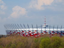 National Stadium in Warsaw, Poland. APRIL 21: Warsaw National Stadium on April 21, 2012. The National Stadium will host the opening match of the UEFA Euro Royalty Free Stock Photos