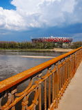 National Stadium in Warsaw, Poland. APRIL 21: Warsaw National Stadium on April 21, 2012. The National Stadium will host the opening match of the UEFA Euro Stock Images