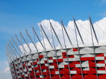 National Stadium in Warsaw, Poland. APRIL 21: Warsaw National Stadium on April 21, 2012. The National Stadium will host the opening match of the UEFA Euro Royalty Free Stock Photo