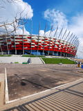 National Stadium in Warsaw, Poland. APRIL 21: Warsaw National Stadium on April 21, 2012. The National Stadium will host the opening match of the UEFA Euro Royalty Free Stock Photography