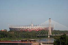 National Stadium in Warsaw, Poland. Royalty Free Stock Photo