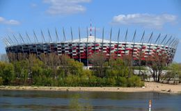 National stadium in Warsaw Royalty Free Stock Photos
