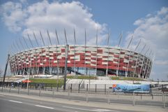 National stadium in Warsaw Royalty Free Stock Photography