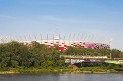 National Stadiumin Warsaw, Poland Royalty Free Stock Photos