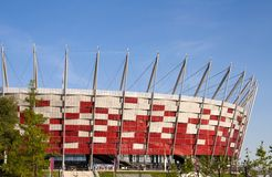 National Stadiumin Warsaw, Poland Royalty Free Stock Images