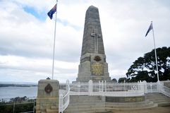 National state war memorial cenotaph commemorates Western Australian at Kings Park and Botanic Garden in Perth, Au. National state war memorial cenotaph stock photography