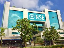 The National Stock Exchange (NSE) at Mumbai. One of the premier stock exchanges, the National Stock Exchange (NSE) at Bandra-Kurla complex Royalty Free Stock Photography