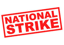 NATIONAL STRIKE Stock Photo