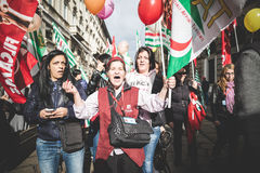 National Strike of tourism in Milan on October, 31 2013 Stock Photo