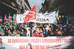 National Strike of tourism in Milan on October, 31 2013 Stock Image