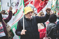 National Strike of tourism in Milan on October, 31 2013 Stock Photography