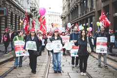 National Strike of tourism in Milan on October, 31 2013 Stock Images