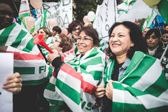 National Strike of tourism in Milan on October, 31 2013 Royalty Free Stock Photo
