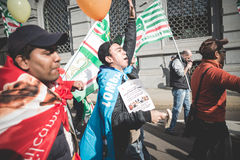 National Strike of tourism in Milan on October, 31 2013 Stock Photos