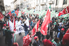 National Strike of tourism in Milan on October, 31 2013 Royalty Free Stock Image