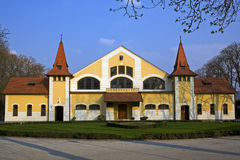 The National Stud Farm. In Topolcianky was established in 1921 and is the national center for breeding and cultivation of horses in Slovakia, Central Europe royalty free stock image