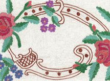 National style of embroidery. Royalty Free Stock Photography