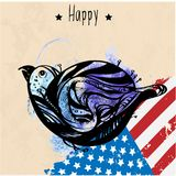 The national symbol of the USA vector illustration