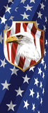 The national symbol of the USA. The national symbol of the United States of America Stock Image
